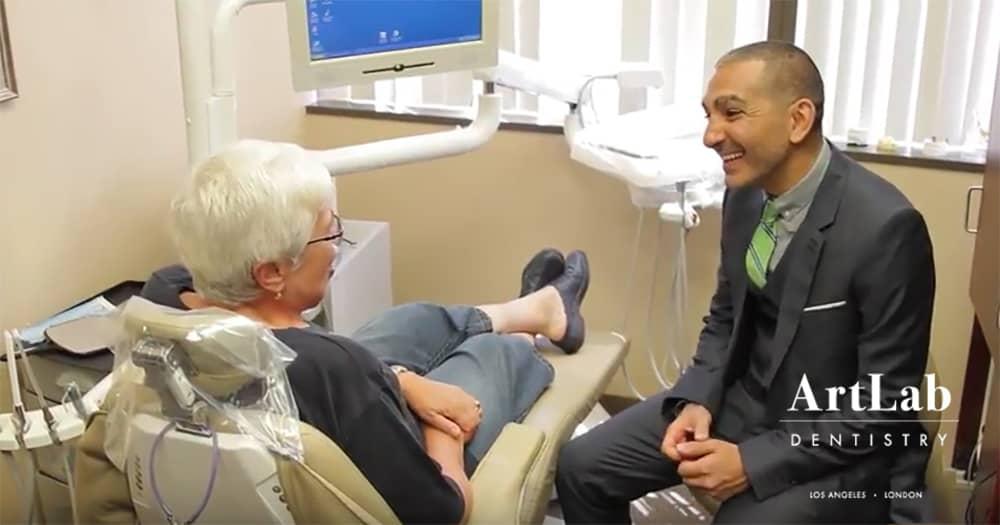 ArtLab Dentistry Customer Alla with Dr. Mamaly Reshad