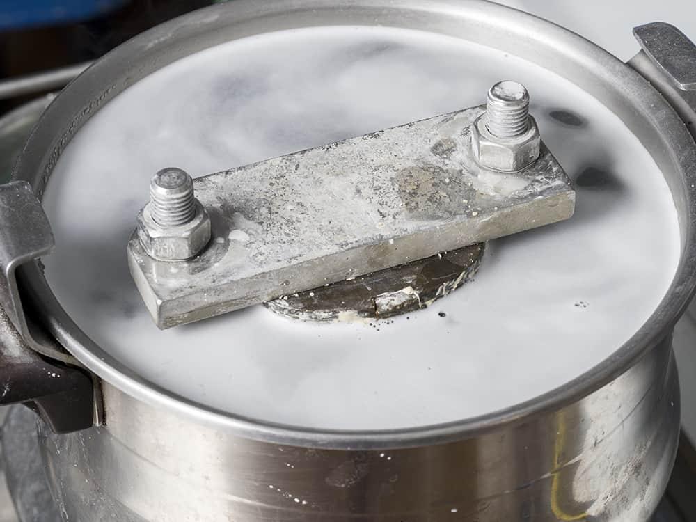 Dentures: Boil the wax away